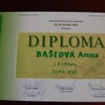 Anna Baštová - Flautiada 2011 - diplom