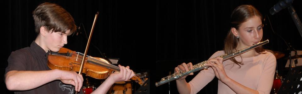 ZUŠ Pacov - příčná flétna a housle