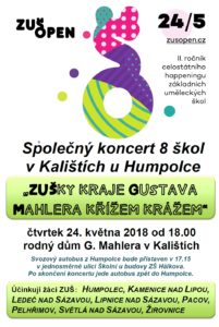 Pozvánka na koncert ZUŠ Pacov
